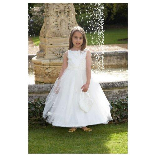 Платье travis designs Бальное платье, айвори, размер 5-6 лет платье travis designs бальное платье розовый размер 3 4 года