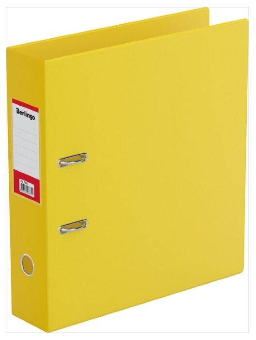 Купить Berlingo Папка-регистратор с карманом на корешке А4, ПВХ, 70 мм желтый по низкой цене с доставкой из Яндекс.Маркета