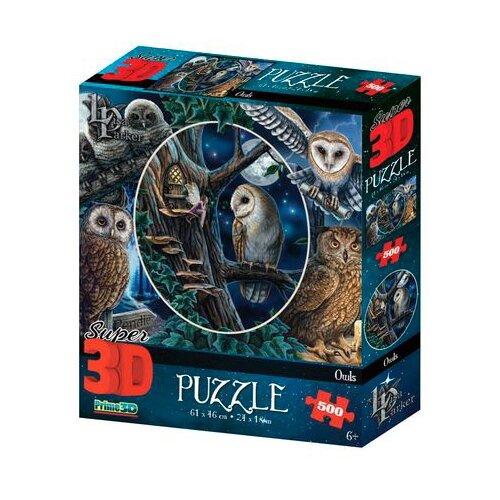 Купить Super 3D Puzzle: Совы (Owls) (500 элементов), Prime 3D, Пазлы