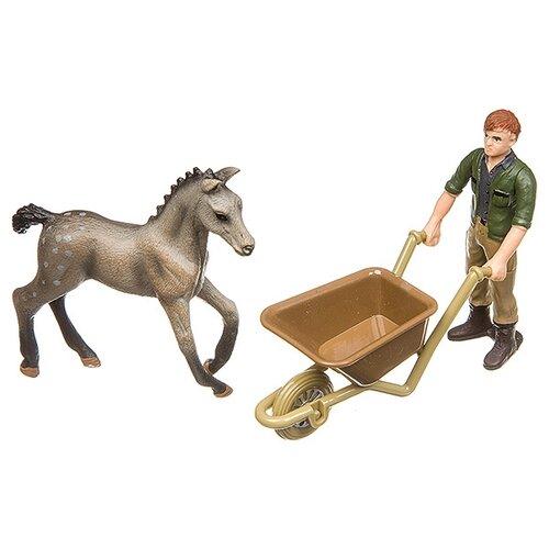 Игровой набор Yako Мир вокруг нас: Фермер с жеребенком H93733, Игровые наборы и фигурки  - купить со скидкой
