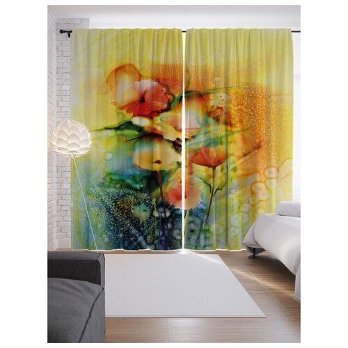 Портьеры JoyArty Цветы в раю на ленте 265 см (p-21159)