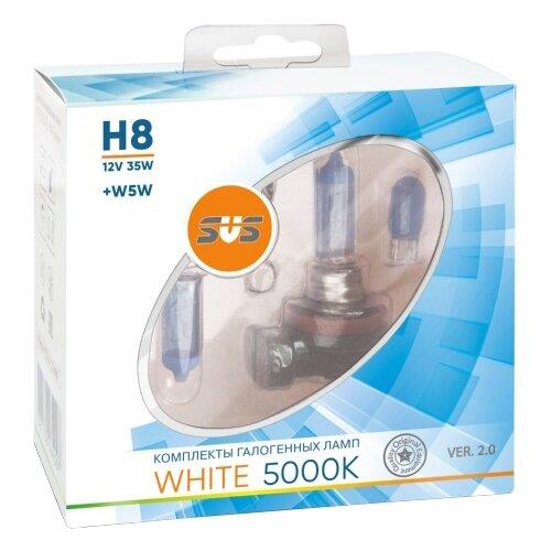 Лампа автомобильная галогенная SVS White 5000K 12V H8 35W+W5W VER.2.0 2 шт.