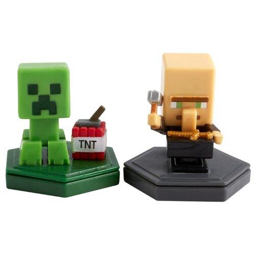 Купить Фигурки Mattel Деревенский житель и Крипер GMD15, Игровые наборы и фигурки