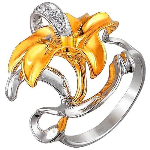 Эстет Кольцо с 5 фианитами из серебра с позолотой 01К1511536АР, размер 17 эстет кольцо с фианитами из серебра 01к2511684 2 размер 17 5