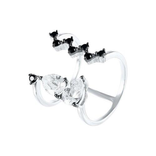 Фото - JV Кольцо с фианитами из серебра R27134-H3-KO-001-WG, размер 16 jv кольцо с фианитами из серебра car2926 ko 004 wg размер 16