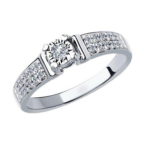 SOKOLOV Кольцо из белого золота с бриллиантами 1011801, размер 17