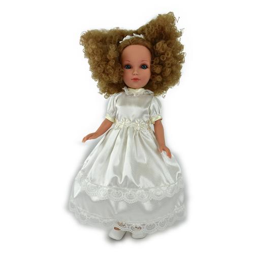 Купить Кукла Vidal Rojas Мари кудрявая блондинка в белом платье (в подарочной коробке), 41 см, 4513, Куклы и пупсы