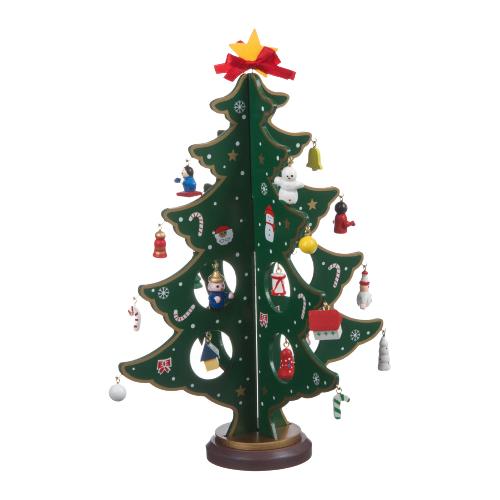 Фото - Фигурка BONDIBON Деревянная ёлочка 3D с игрушками 29 см зеленый ёлочка змеевик 19 см