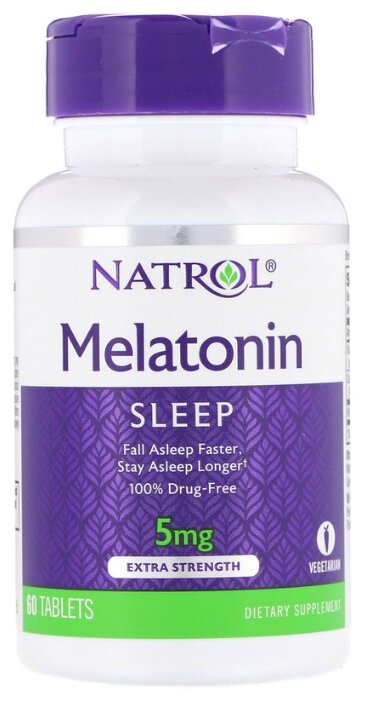 Natrol Melatonin 5 mg 60 капс.