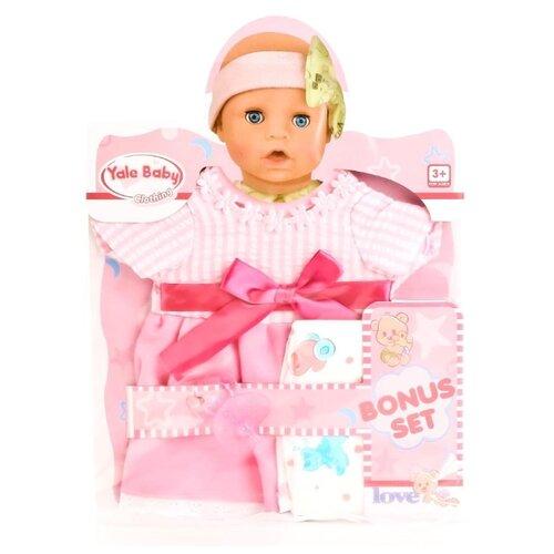 цена Junfa toys Комплект одежды для пупса BLC202B розовый онлайн в 2017 году