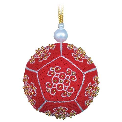 ZENGANA Набор для вышивания бисером и нитками Золотой мяч 6 х 6 см (M-115)
