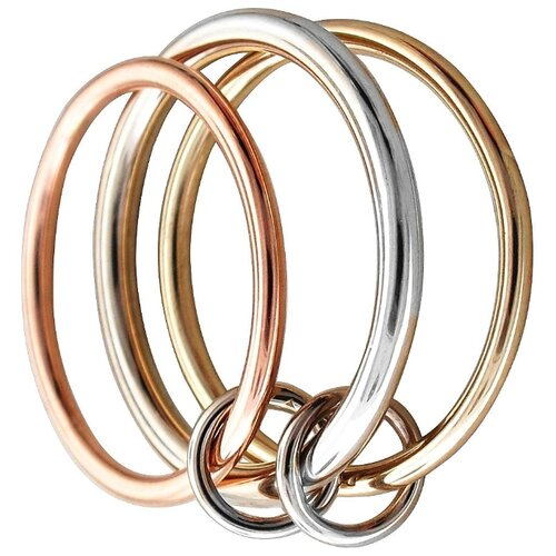 Эстет Кольцо из комбинированного золота 01К0612865, размер 16 ЭСТЕТ