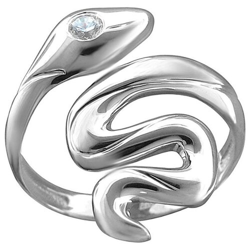 Эстет Кольцо с 1 фианитом из серебра 01К1513188, размер 16.5 фото