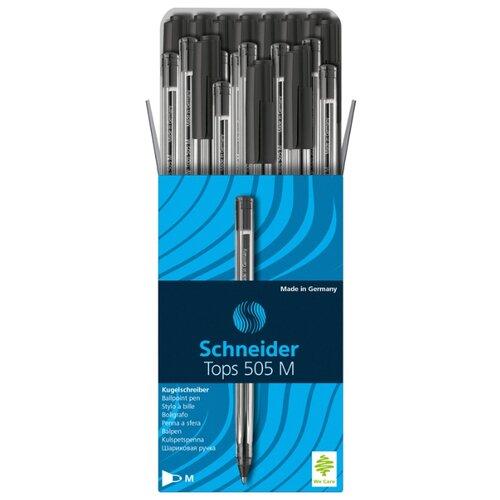 Купить Schneider Набор шариковых ручек Tops 505 M, 1 мм, 50 шт, 150601, черный цвет чернил, Ручки