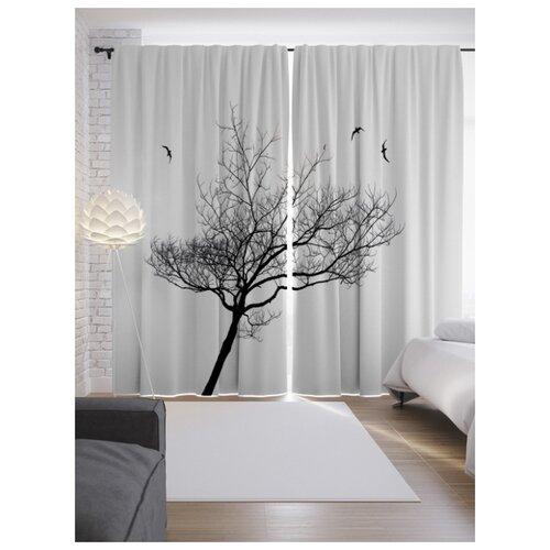 Портьеры JoyArty Дерево без листьев на ленте 265 см (p-17214)