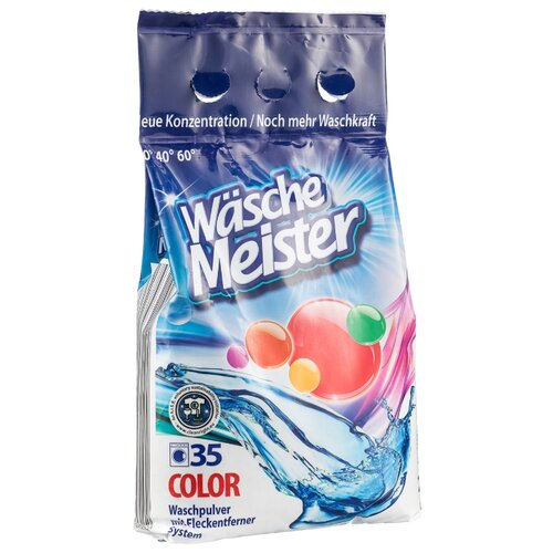 Стиральный порошок WascheMeister Color для цветного белья пластиковый пакет 2.6 кг
