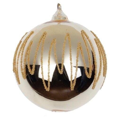 Набор шаров KARLSBACH 08404 Шар с узором, золотистый