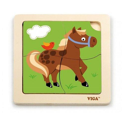 Рамка-вкладыш Viga Лошадка (51312), 4 дет.