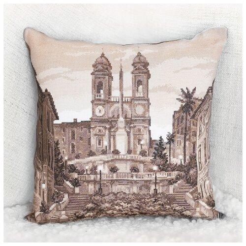Купить PANNA Набор для вышивания Подушка. Рим. Испанская лестница 42 x 42 см (PD-1727), Наборы для вышивания
