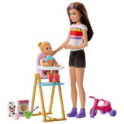 Игровой набор Barbie Skipper™ Babysitters Inc. Няня Скиппер, стульчик для кормления, GHV87, Куклы и пупсы  - купить со скидкой