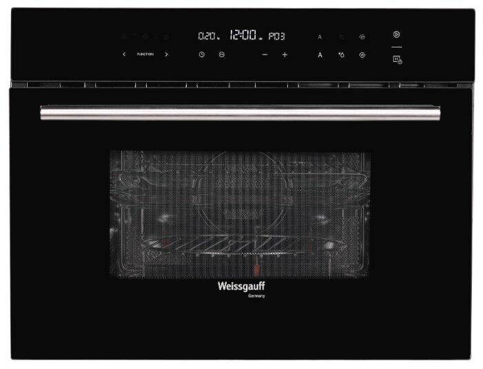 Встраиваемый компактный духовой шкаф с СВЧ Weissgauff OE 446 B