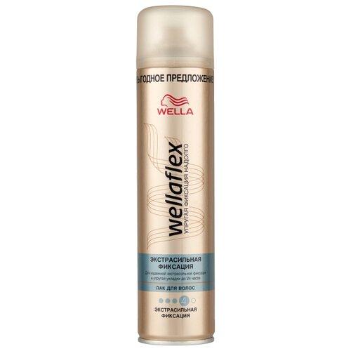 Wella Лак для волос Wellaflex Экстрасильная фиксация, экстрасильная фиксация, 400 мл syoss volume lift лак для волос объем экстрасильная фиксация 400 мл