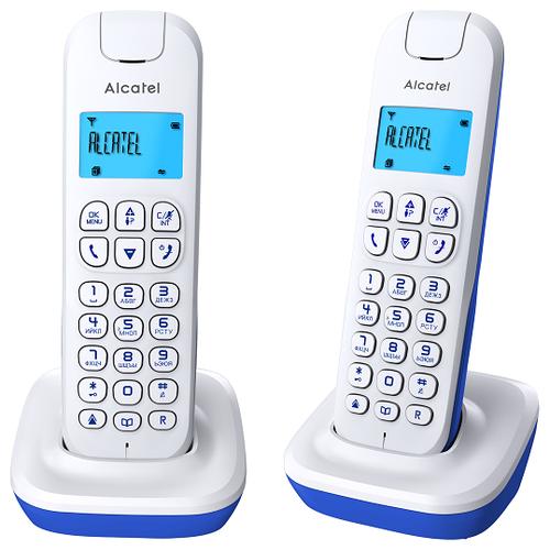 Фото - Радиотелефон Alcatel E132 Duo белый радиотелефон alcatel smile grey