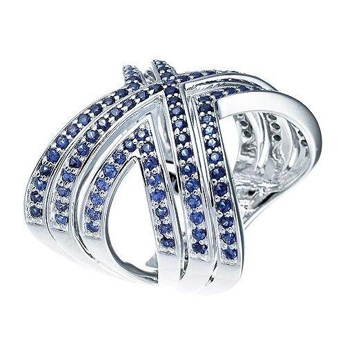 JV Кольцо с фианитами из серебра YC0038R-001-WG, размер 17.5 по цене 6 700
