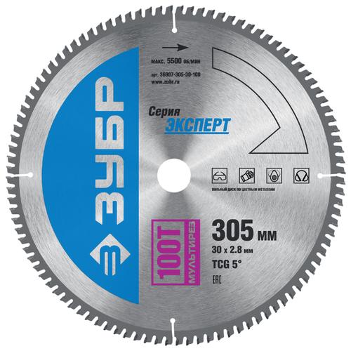 Пильный диск ЗУБР Экперт 36907-305-30-100 305х30 мм диск пильный зубр 190х30 мм 24т 36850 190 30 24