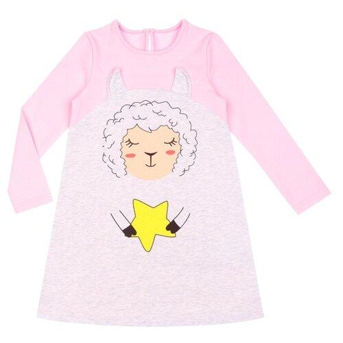 Купить Платье Апрель Преданные друзья размер 110-56, светло-серый/светло-розовый, Платья и сарафаны