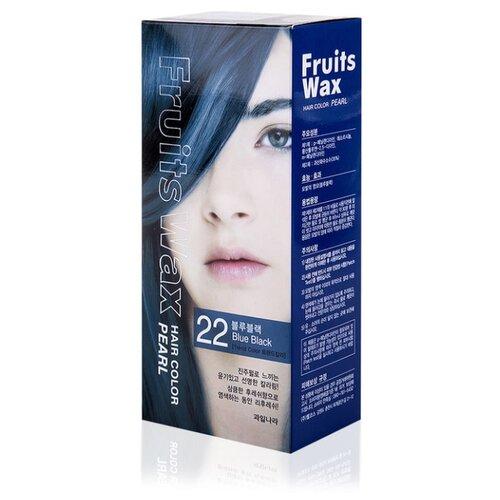 Фото - Welcos стойкая крем-краска для волос Fruits Wax Pearl Hair Color, 22 blue black краска для волос fruits wax pearl hair color 60мл no 99