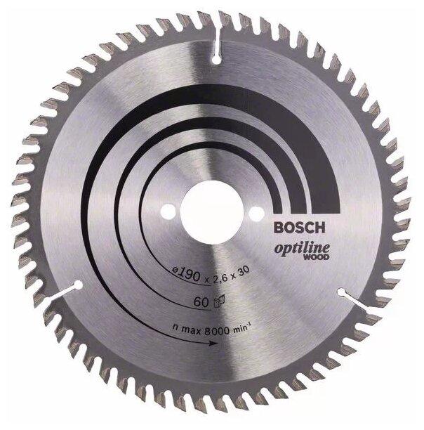 Пильный диск BOSCH Optiline Wood 2608641188 190х30 мм