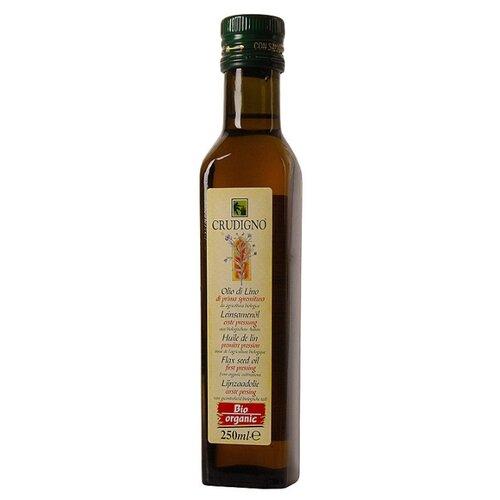 цена на Crudigno Масло льняное Organic Flax Seed Oil 0.25 л