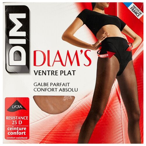Колготки DIM Diam's Ventre Plat 25 den, размер 1, peau doree (бежевый) колготки dim body touch ventre plat 20 den размер 1 peau doree бежевый