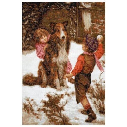 Купить Набор Первый снег 25х37 Палитра 07.002, Наборы для вышивания