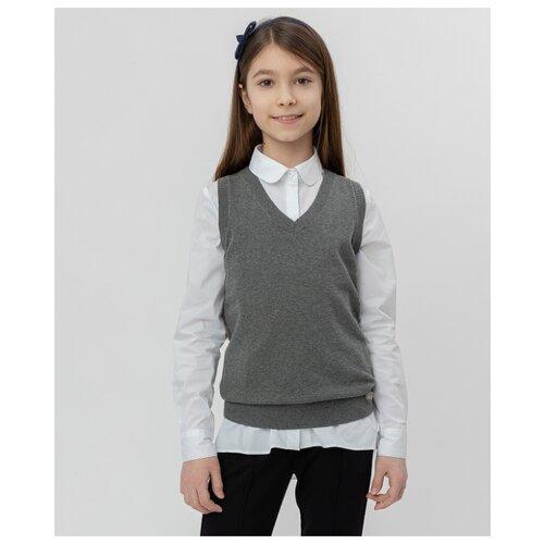 Жилет Button Blue размер 158, серый жилет утепленный для девочки button blue цвет салатовый 118bbgc47012700 размер 158