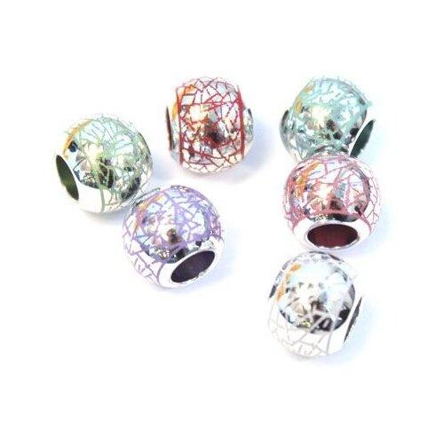 Купить Набор бусин металлических Астра , 14x11-7 мм, цвет: микс, 6 штук, арт. 4977, Astra & Craft, Фурнитура для украшений