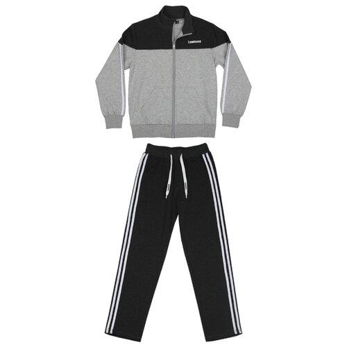 Спортивный костюм Luminoso размер 164, темно-серый меланж/светло-серый меланж, Спортивные костюмы  - купить со скидкой