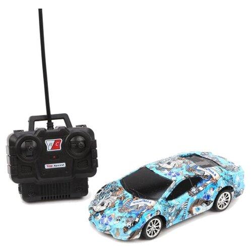 Купить Машинка Shantou Gepai 365-6T 1:18 17 см голубой, Радиоуправляемые игрушки