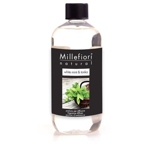 Millefiori Milano наполнитель для диффузора NATURAL Белая мята и тонка White Mint & Tonka 250 мл рефилл белая мята и тонка 250 мл millefiori milano