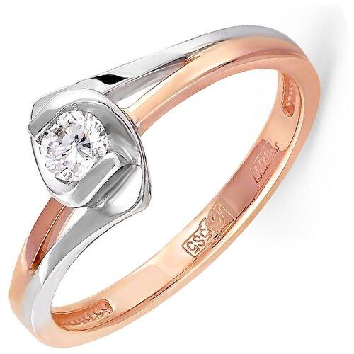 KABAROVSKY Кольцо с 1 бриллиантом из красного золота 11-0307-1000, размер 16 kabarovsky кольцо с 1 бриллиантом из красного золота 1 0336 1000 размер 16 5