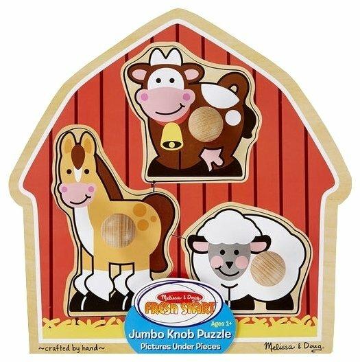 Рамка-вкладыш Melissa & Doug Животные с фермы (2054), 3 дет.