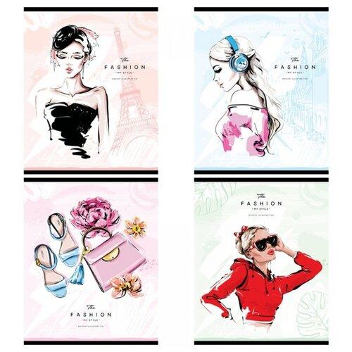 Купить ArtSpace Упаковка тетрадей Стиль. Модные девушки, Т48к_29680, 10 шт./4 дизайна, клетка, 48 л., Тетради