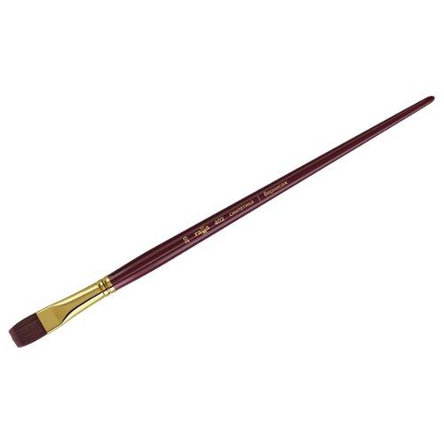 Купить Кисть ГАММА Вернисаж синтетика №20, плоская, длинная ручка бордовый, Кисти