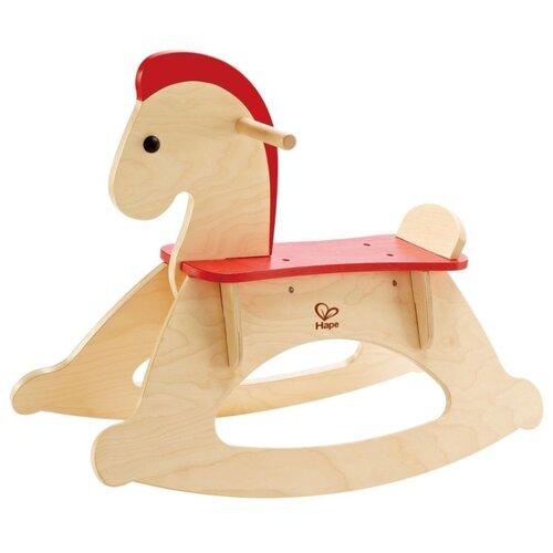 Каталка-качалка Hape Rock and Ride Horse (E0100) бежевый/красный, Каталки и качалки  - купить со скидкой