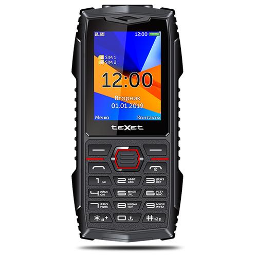 Телефон teXet TM-519R (без камеры) черный/красный