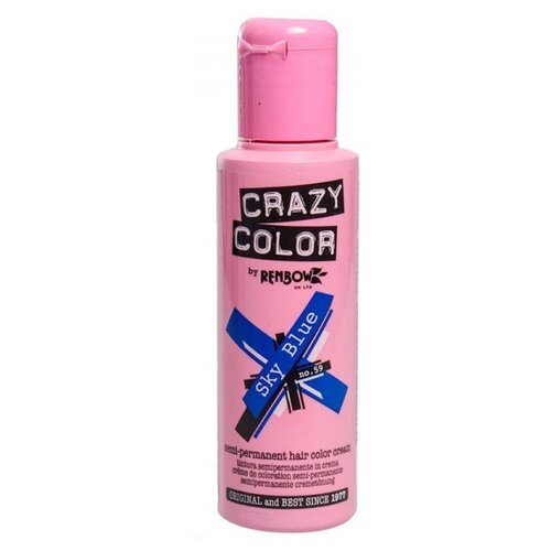Краситель прямого действия Crazy Color Semi-Permanent Hair Color Cream Sky Blue 59, 100 мл