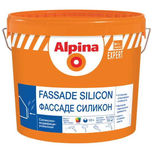 Краска силиконовая Alpina Expert Фасад Силикон влагостойкая матовая белый 10 л Alpina   фото
