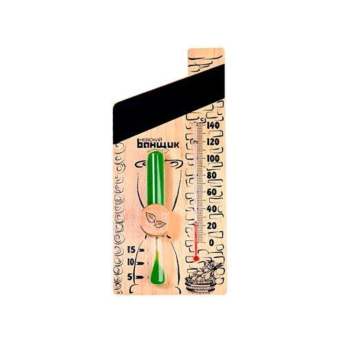 настой ароматизирующий для сауны невский банщик мята и мелисса 100мл Термометр Невский банщик Б-1141 бежевый