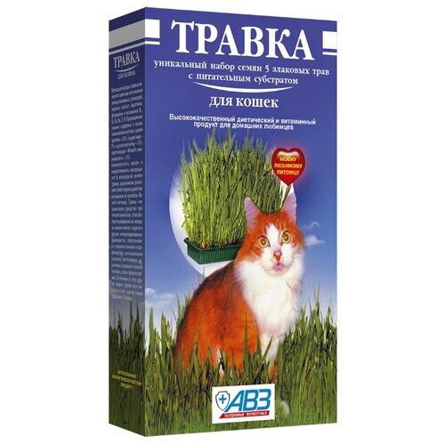 Лакомство для кошек Агроветзащита Травка (лоток с питательным субстратом), 170г